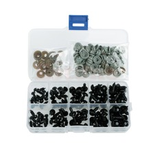New 100pcs 6-12mm Black Plastic Safety Eyes For Teddy Bear Doll Animal Puppet Crafts 12mm doll stuffed doll eyeballs half round acrylic eyes for diy doll bear crafts mix color plastic doll eyeball 100pcs box