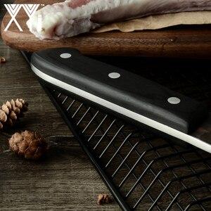 Image 4 - XYj Full Đường Bộ Ăn Thịt Dao Đầu Bếp Trung Quốc Dao Nhà Bếp Handmade Giả Carbon Cao Cấp Bọc Thép Rau Củ Tặng Dao Bao Vỏ Bọc