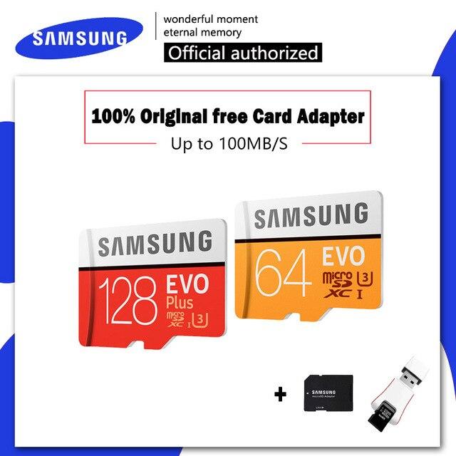 Thẻ Nhớ SAMSUNG EVO Dung 32 64 128 GB Micro SD 128 GB 32GB 64GB 256GB 512GB thẻ NHỚ Micro SD SD/TF Thẻ Flash Card MicroSD Carte cho Điện Thoại
