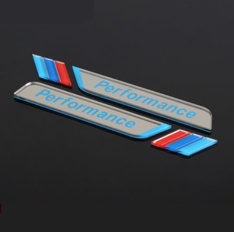 Image 2 - New 2pec/set M Power Performance Fender Car Styling Decal Emblem Badge For BMW M 1 3 4 5 6 7 E Z X Car Stickers Accessories-in Car Stickers from Automobiles & Motorcycles