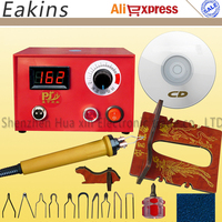 NEW Gourd Pyrography Machine With Digital Display Pyrography Pen 10pcs Pyrography Heating Wire For Wooden Gourd
