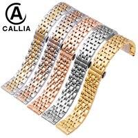 Hohe Qualität Edelstahl armband 22 20 18mm 16mm 14mm für AR1648/0389 männer und frauen Uhr Band Goldene Rose gold Silber