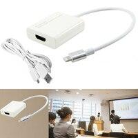 Plug and Play HDMI Adaptateur Chargeur Câble Vidéo Téléphone à TV HDTV pour iPhone 8 8 plus 6 6 S 7 7 Plus 5 5S iPad Pro Air Mini 4 3 2
