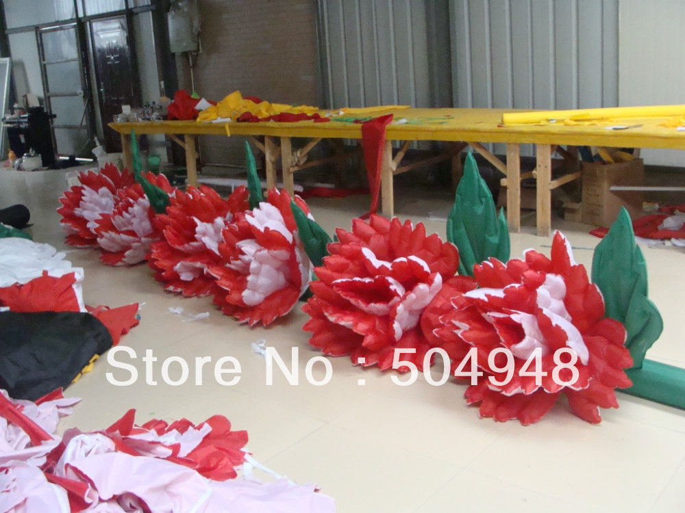 Wedding Inflatable Decoration Gate Flower With Led Light Furniture Accessories