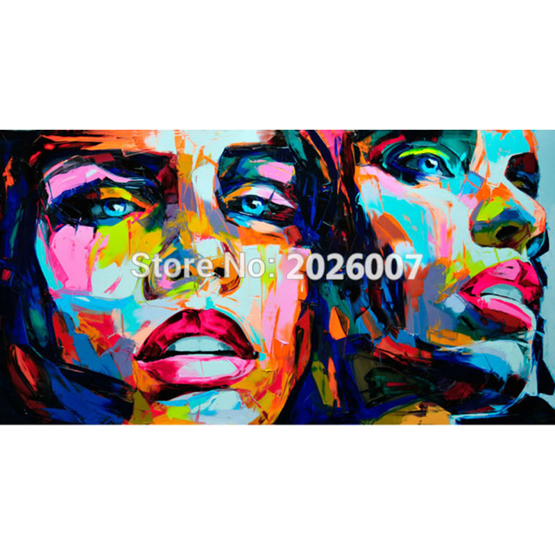 Hand Painted Francoise Nielly Designer Untitled 569 Palette font b knife b font Abstract Oil Painting