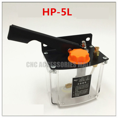 Manual lubrication oil pump left hand operated lubricator ys hp 5l.
