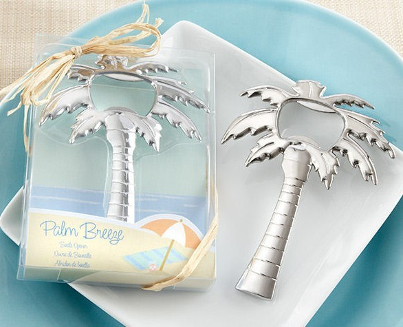 new beach themed wedding favour palm tree bottle opener bridal shower favor gifts wedding present 20pcslot free shipping