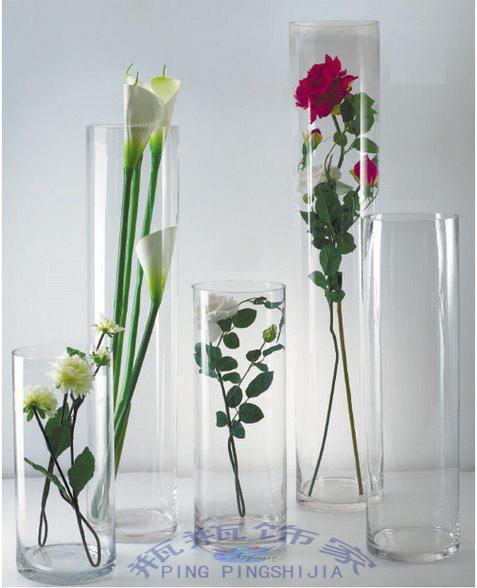 Tipo de suelo recta extra grande de vidrio florero decoracin
