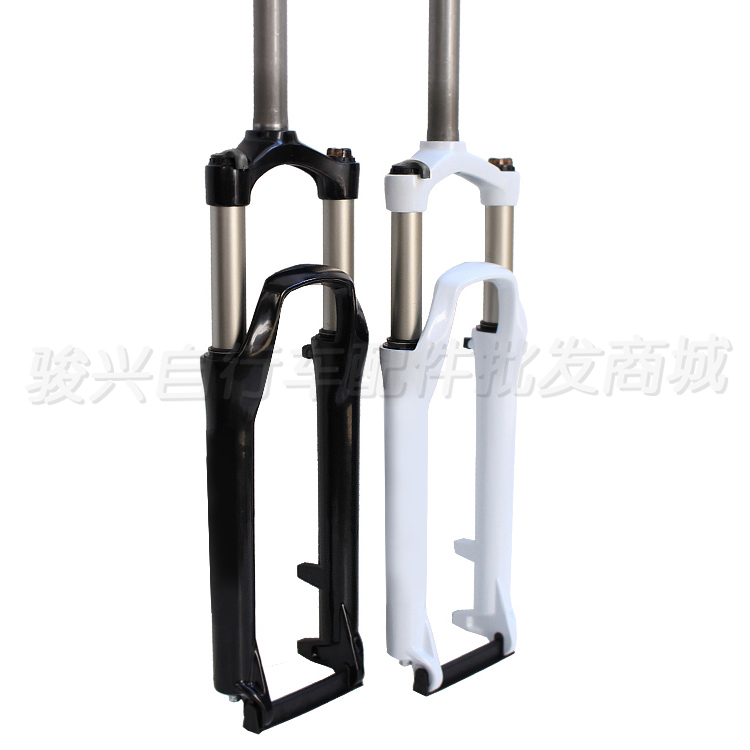 Aluminum alloy mountain bike suspension fork lock 26 pure disc shock absorption fork magnesium aluminum alloy bicycle front fork mountain bike front shock 26 27 5bicycle suspension fork disc brakes mtb fork