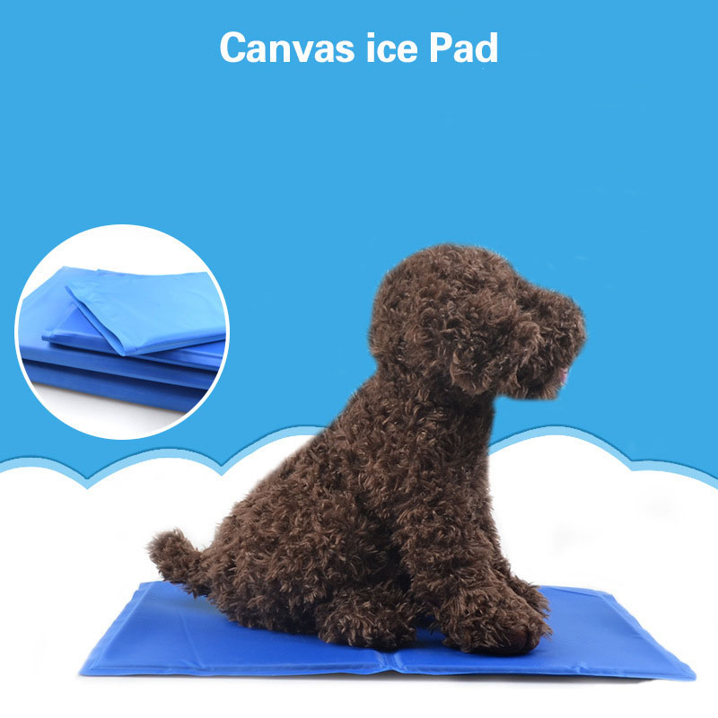 summer canvas ice pad pet dog kitty cooling bed ice pad cushion blue ice cool pad