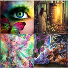 Butterfly Elf Girl Fairy Embroidery 5D Diamond Painting Full Square Drill Home Decoration Gift Mosaic Animal 3D Cross Stitch