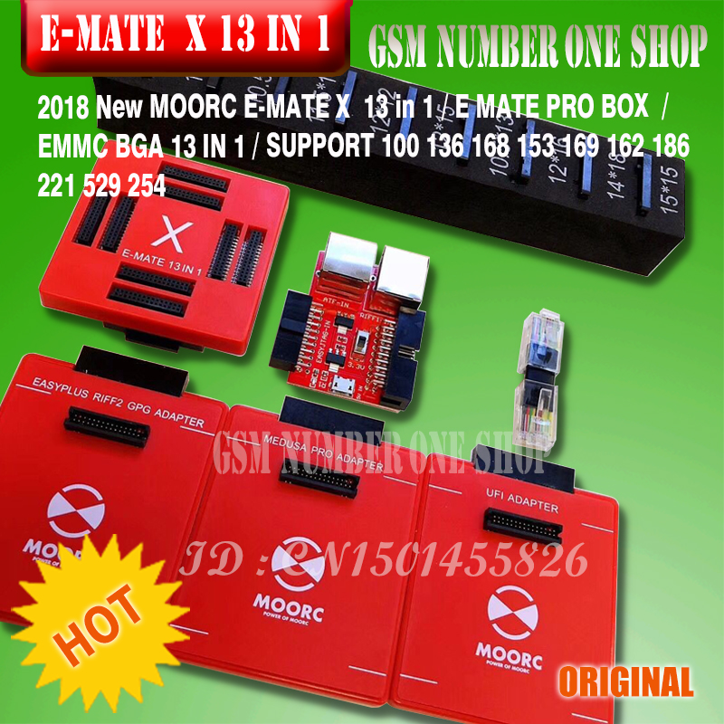 Back To Search Resultscellphones & Telecommunications Communication Equipments 2019 Original New Moorc E-socket Moorc E Mate Pro Box E-mate X Emmc Bga 13 In 1 Support 100 136 168 153 169 162 186 221 529 254