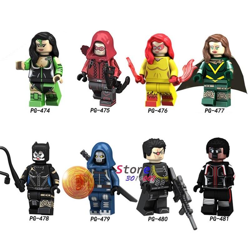 50pcs Building Blocks Hope Deadpool Red Arrow Deathshot Task FireBlack Mamba Mister Terrific for kids children