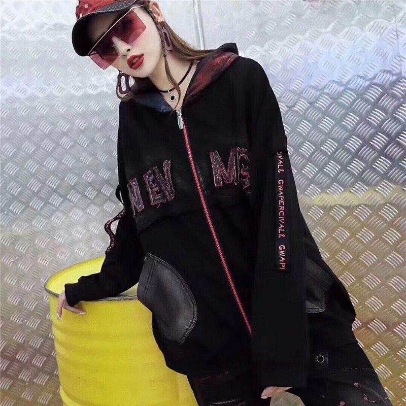 Lulu Noir Capuche Bts Vintage Femme Dames Veste Mode vent Max Coréenne  Manteaux Femmes Punk Style Coupe À 2018 Streetwear Casual Automne dqgOvwx6vR b482aa0ce11d