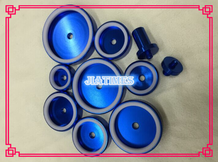 Free Shipping 1 Set Blue Watch Bezel Dies for Watches 10pcs Die Kit Watch Repair Tool