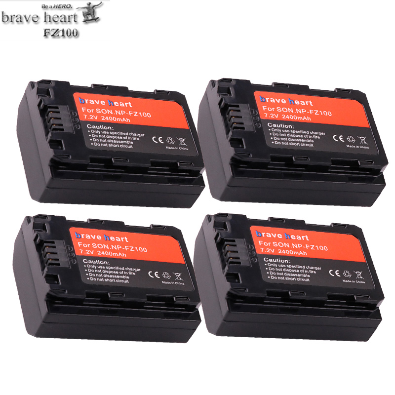 Newest 2400mah NP-FZ100 NP FZ100 Rechargeable Li-ion Battery For Sony NP-FZ100, BC-QZ1, Sony A9, A7R III, A7 III, ILCE-9 Cameras