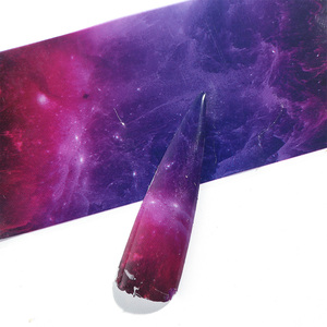 Image 4 - 10 adet degrade yıldızlı gökyüzü tırnak folyo mermer holografik tasarım Nail Art transferi Sticker sarma dekorasyon yapışkanlı çıkartmalar JI1022