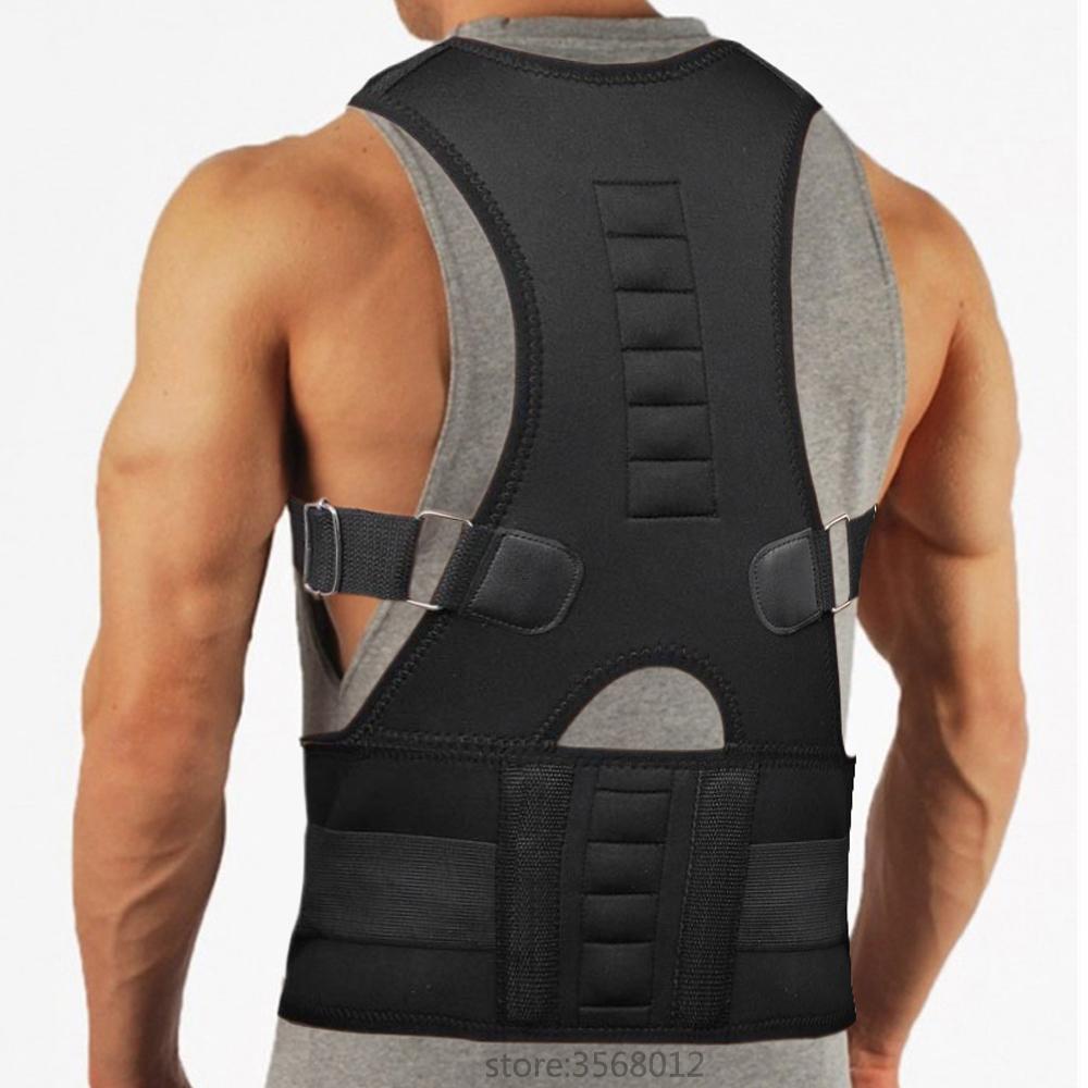 Magnetic Upper Back Adjustable Spine Brace Posture Corrector Scoliosis Shoulder Support Adult Children Corset Back Support Belt