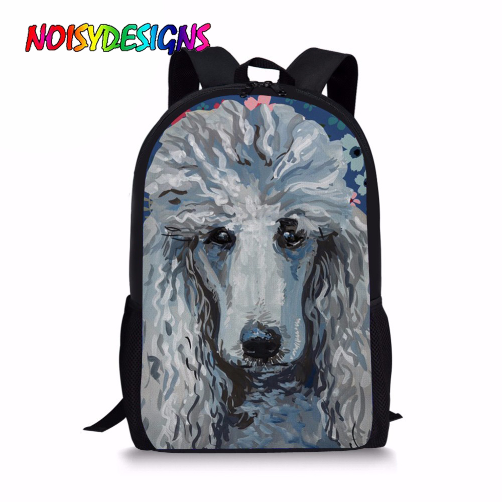 Noisydesigns School Bags Backpacks For Teenager Girls Poodle Sweetheart Print School Book Bag Children Casual Shoulder Bagpack