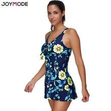 JOYMODE Skirt Beach Wear Bankini Plus Size Push Up Padded Two Piecs SwimDress