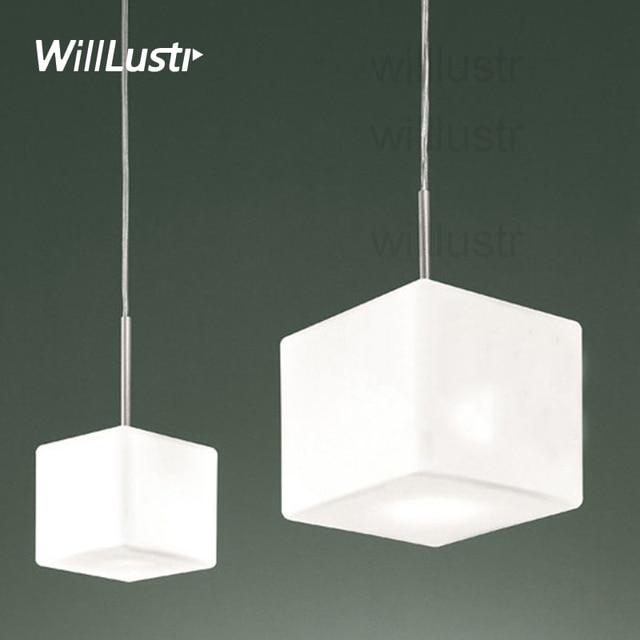 itre lighting. Willlustr Itre Cubi Pendant Lamp Suspension Light Italy Ufficio Stile Lighting White Frosted Glass Dinning Room