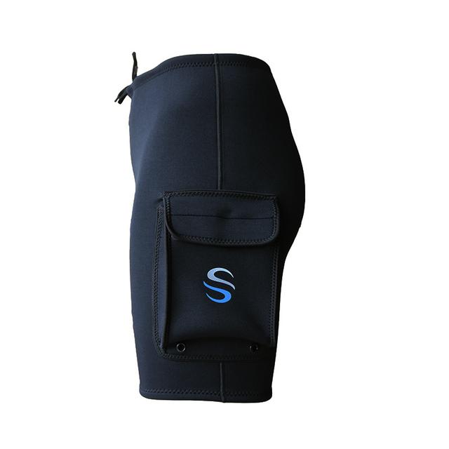 SLINX 3mm Neoprene Wetsuit Tech Shorts Snorkeling Scuba Diving Equipment Surfing Trunks Submersible Pocket Pants Black