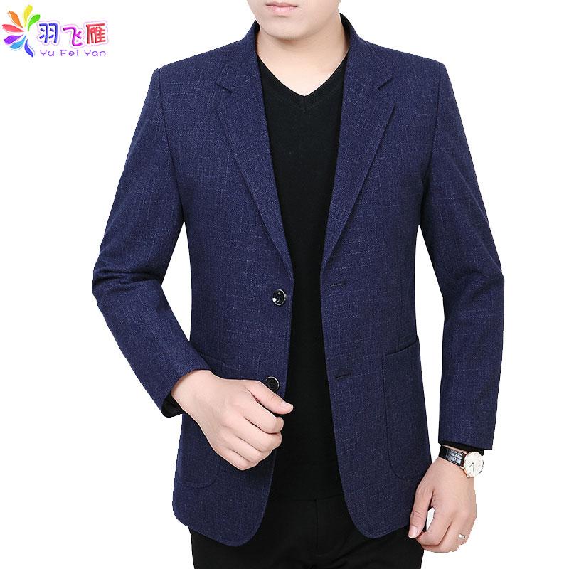2019 Spring Smart Casual Blazer Men Blue Slim Fit Wedding Blazer Jacket Single Breasted 3XL Formal Suit Jacket