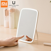 Xiaomi Jordan&Judy Portable LED Touch control Lighted Make Up Mirror 1200mAh rechargeable Desktop Make Up mirror Foldable mirror