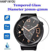 For Diameter 30mm – 42mm SmartWatch Tempered Glass 9H 2.5D Premium Screen Protector Film 23 31 32 33 34 35 36 37 38 39 40 41 mm