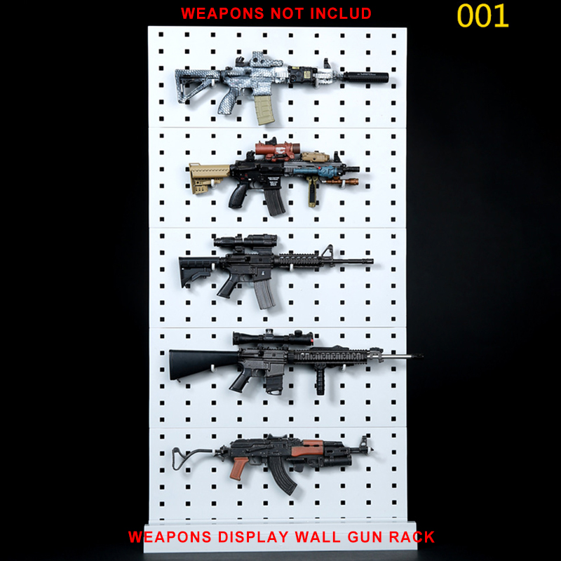001 <font><b>1/6</b></font> <font><b>Scale</b></font> <font><b>Gun</b></font> Rack Modular Weapon <font><b>Guns</b></font> Display Stand Set Shelf (Weapons not included)For 12