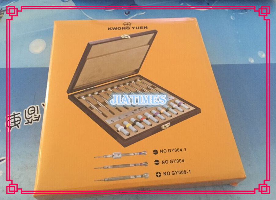 1 Set Quality 10pcs Watch Screwdriver Set in Wooden Box for Watch Repairers and Watch Hobbyists