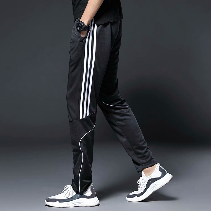 Image 3 - Men Sports Running Pants zipper Pockets Athletic Football Soccer Training sport Pants Elasticity Legging jogging Gym Trousers-in Running Pants from Sports & Entertainment on AliExpress