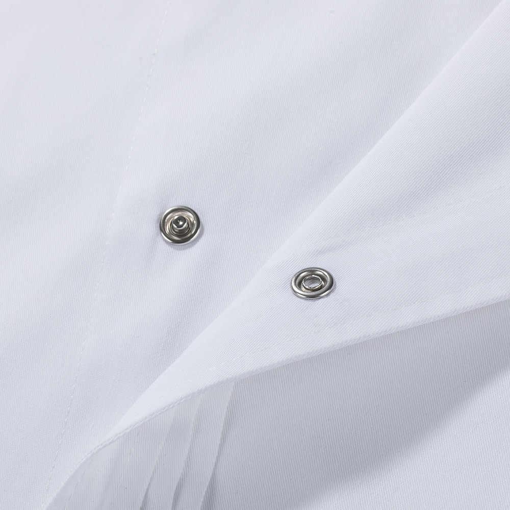 場合 2019 新しい食品サービスキッチン作業ジャケット制服寿司ベーカリーカフェウェイターケータリング黒白衣エプロン