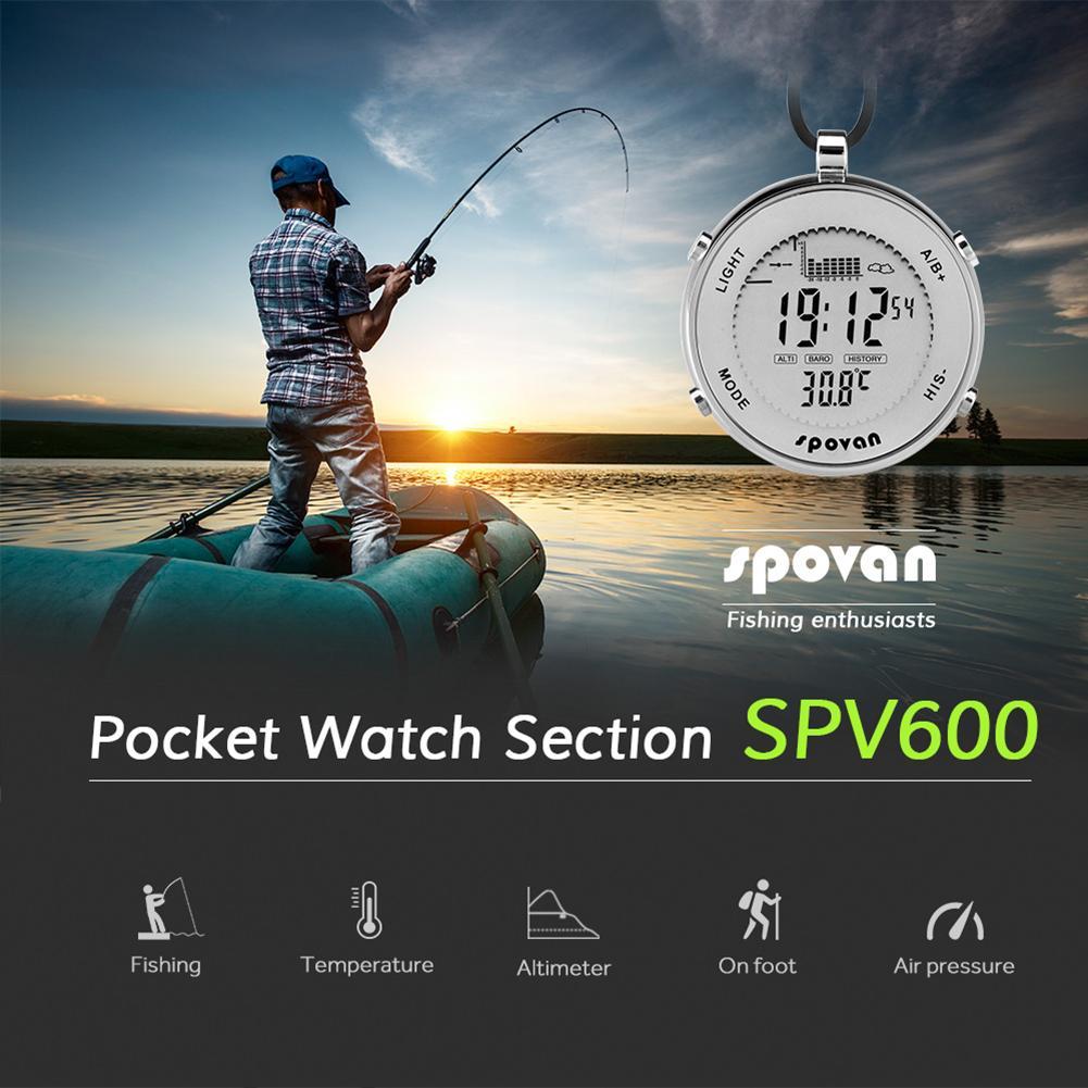 Étanche nouvelle pêche EL rétro-éclairage altimètre alarme chronomètre hommes Sport montre de poche