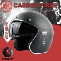 TORC Brand MOTO Helmet Casco Capacetes Vintage Jet Open Face Motorcycle Helmets Cafe Racer Helmet Scooter