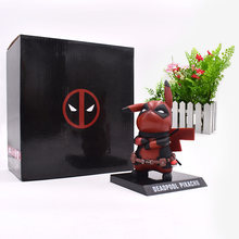 Anime Pikachu Cosplay Deadpool Deadpool Action Figure Collectible Figurine DO PVC Modelo Brinquedos de Presente de Natal 15 centímetros(China)