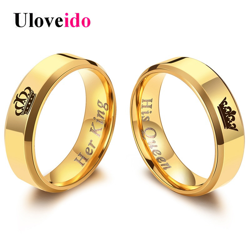 Uloveido Wedding Rings For Women And Men Stainless Steel