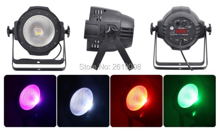 8pcs/lot cob led light RGBW 4in1 100w cob led par can dmx led cob par light for disco stage bar club t 8 lot 100w rgbw 4 in 1 cw ww cob par 64 led stage studio par light with barn doors