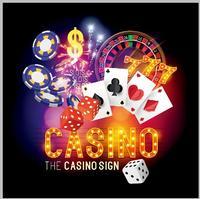 Cartas De Poker Roleta do Casino Las Vegas Tema Dados Clube Vinil Computador pano impressão partido cenário