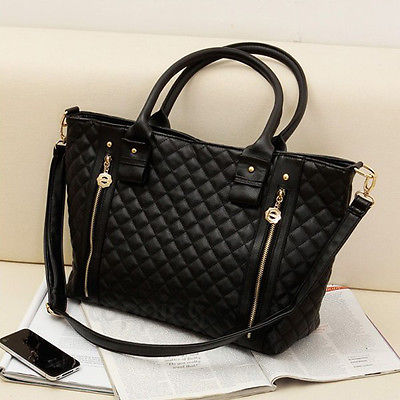 Women's Handbags Bags PU Leather Shoulder Tote Crossbody Bag Hobo Handbag Black