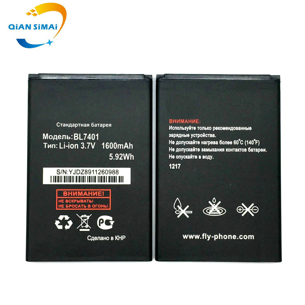 5PCS High quality 1600mah <font><b>BL7401</b></font> battery For <font><b>FLY</b></font> IQ238 iq238 mobile phone Free Shipping + Track Code image