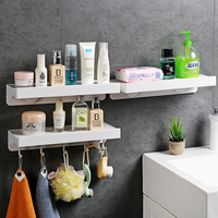 Multi purpose bathroom shelf toilet paper Storage rack with hook toothbrush towel holder Kitchen Bathroom accessories