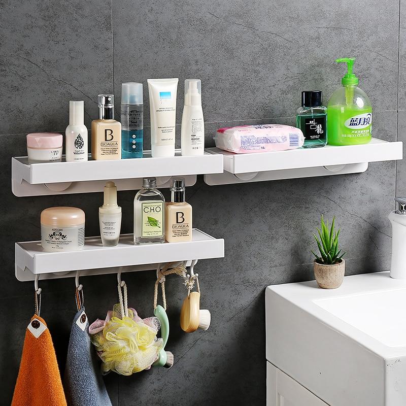 Multi-purpose bathroom shelf toilet paper Storage rack with hook toothbrush towel holder Kitchen Bathroom accessories 032365bathroom shelf bathroom shelf convenient rack with hook accessories colorful moistureproof environmental beautiful