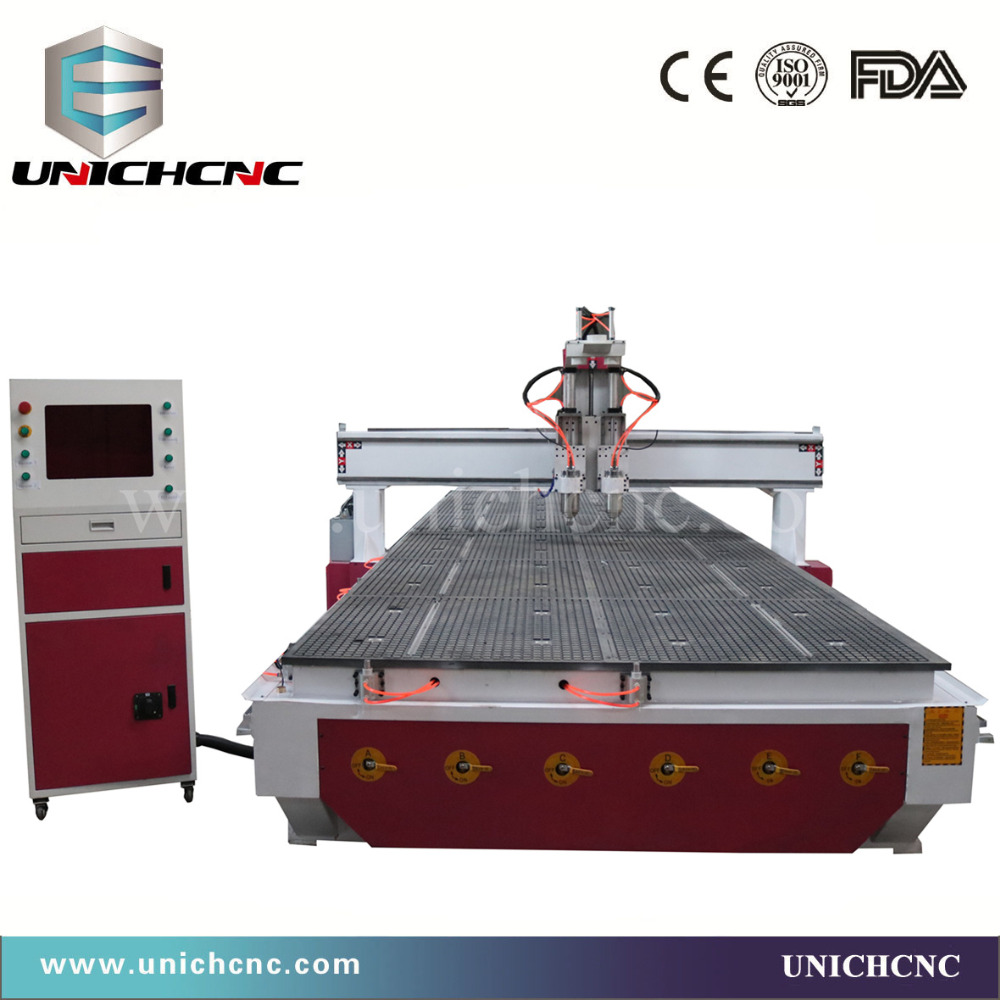 UNICHCNC High Efficency Double Spindles Furniture Cabinet Cnc Aluminum  Engrave And Cutter In Wood Routers From Tools On Aliexpress.com | Alibaba  Group