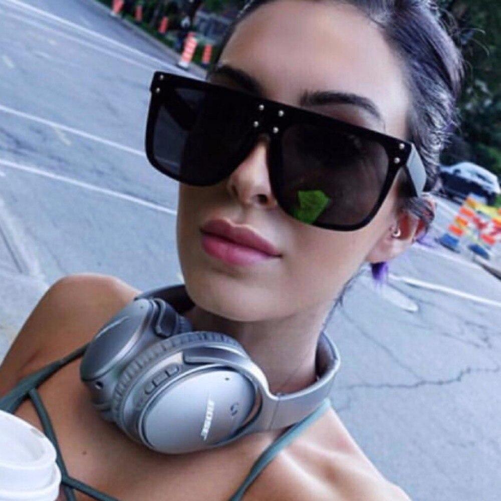 Women Sunglasses Oversize Oval Fashion Female Men Acetate Frame Flat Top Brand Designer Eyewear Sun Glasses Sunglasses women