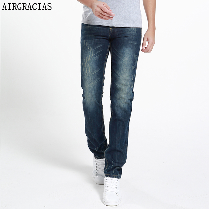 AIRGRACIAS Brand Jeans Summer Style Brand Mens Jeans Cotton Classic Ripped Jeans For Men Fashion Designer Biker Jean 28-40 2016 new arrive famous brand clothing mens jeans homme fashion ripped jeans for men designer robin jeans gyms men s jean warm