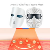 Photon Facial LED Mask Therapy 108 lights colors Light Skin Rejuvenation Wrinkle Reduction Acne Removal led Beauty lamps facial