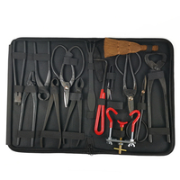 14Pcs Bonsai Tool Set Carbon Steel Extensive Cutter Scissors Kit With Nylon Case For Garden Pruning Tools