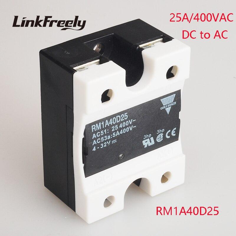 все цены на RM1A40D25 25A DC AC Solid State Relay Output:42-440VAC Input:5V 12V 24V DC SSR Relay Soft Starting Voltage Relay Switch Board онлайн
