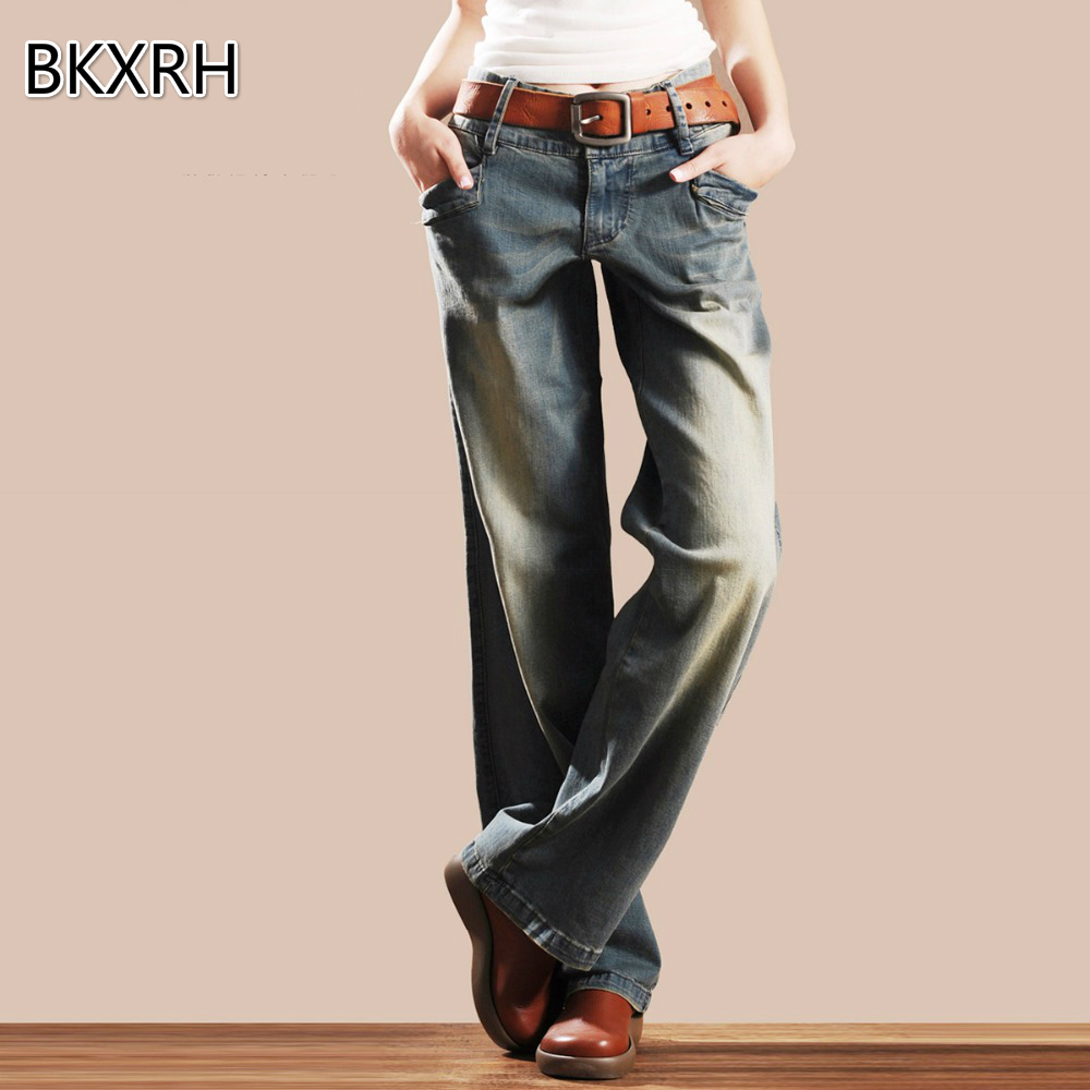 Model Fashion Casual 2017 Women Vintage Skinny Denim Jeans High Waist Ripped Pencil Jeans Stretchy ...